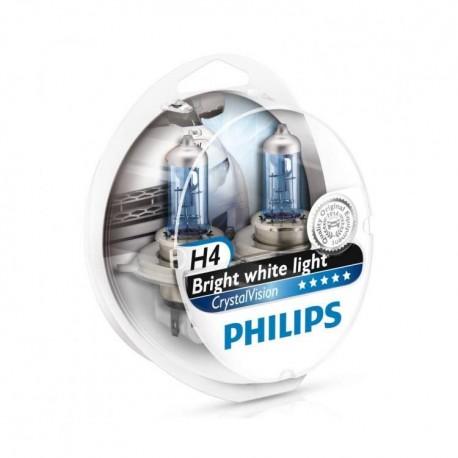 ΛΑΜΠΕΣ PHILIPS H4 CRYSTAL VISION 12V 60/55W 4300K