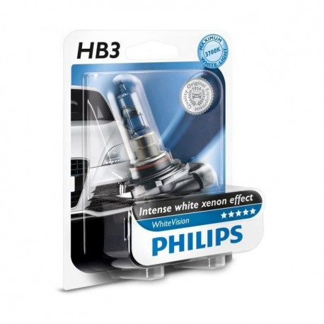 ΛΑΜΠΑ PHILIPS HB3 WHITE VISION 12V 60W 3700K