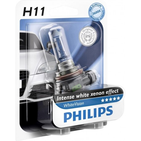ΛΑΜΠΑ PHILIPS H11 WHITE VISION 12V 55W 3600K
