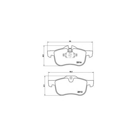 Σετ Τακάκια BREMBO P52017