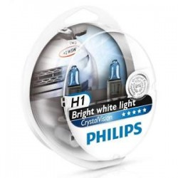 ΛΑΜΠΕΣ PHILIPS H1 12V 55W CRYSTAL VISION 4300K