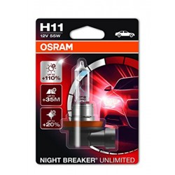 ΛΑΜΠΑ OSRAM H11 12V 55W NIGHT BREAKER® UNLIMITED