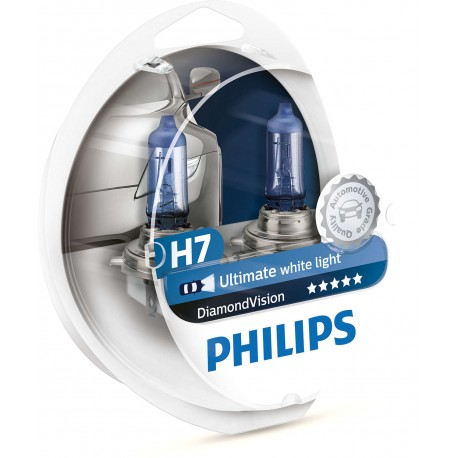 ΛΑΜΠΕΣ PHILIPS H7 12V 55W DIAMOND VISION 5000K