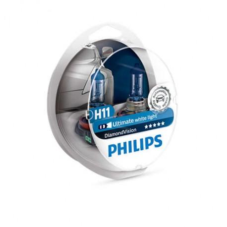ΛΑΜΠΕΣ PHILIPS H11 DIAMOND VISION 12V 55W 5000K