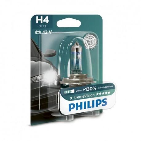 ΛΑΜΠΑ PHILIPS H4 12V 60/55W X-TREME VISION +130% ΠΕΡΙΣΣΟΤΕΡΟ ΦΩΣ