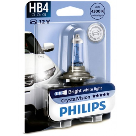 ΛΑΜΠΑ PHILIPS HB4 12V 55W CRYSTAL VISION 4300K
