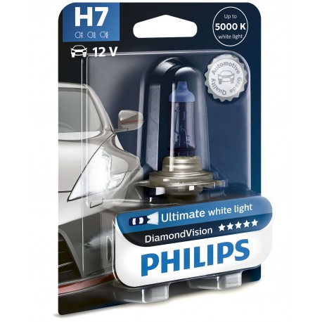 ΛΑΜΠΑ PHILIPS H7 12V 55W DIAMOND VISION 5000K
