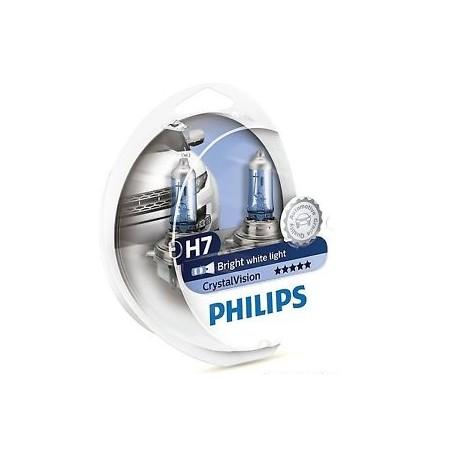 ΛΑΜΠΕΣ PHILIPS H7 12V 55W CRYSTAL VISION 4300K