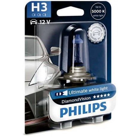 ΛΑΜΠΑ PHILIPS H3 12V 55W DIAMOND VISION 5000K