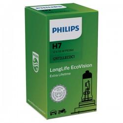 ΛΑΜΠΑ PHILIPS H7 12V 55W LONGLIFE ECOVISION