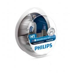 ΛΑΜΠΕΣ PHILIPS H1 12V 55W DIAMOND VISION 5000K