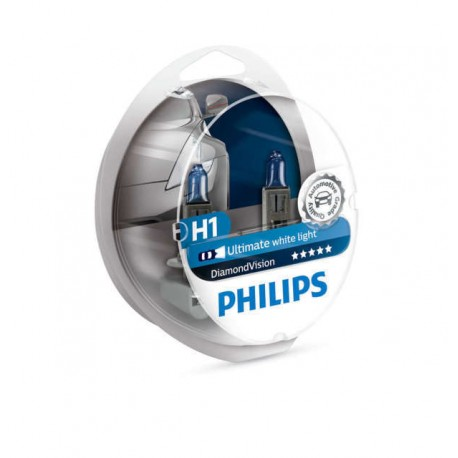 ΛΑΜΠΕΣ PHILIPS H1 12V 55W DIAMOND VISION 5000K