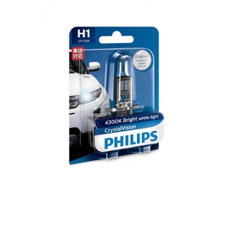 ΛΑΜΠΑ PHILIPS H1 12V 55W CRYSTAL VISION 4300K