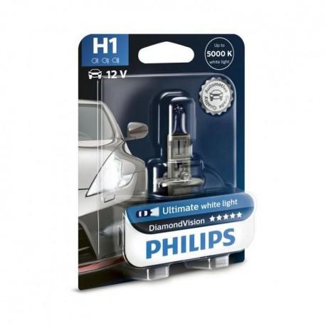 ΛΑΜΠΑ PHILIPS H1 12V 55W DIAMOND VISION 5000K