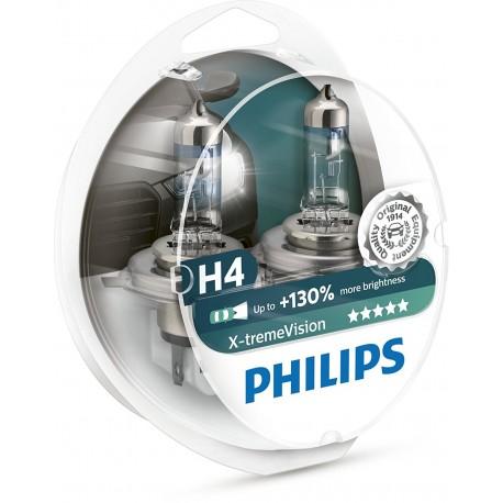 ΛΑΜΠΕΣ PHILIPS X-TREME VISION H4 +130% ΠΕΡΙΣΣΟΤΕΡΟ ΦΩΣ 2τμχ