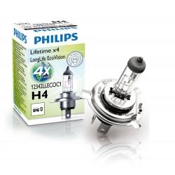 ΛΑΜΠΑ PHILIPS H4 12V 60/55W LONGLIFE ECOVISION