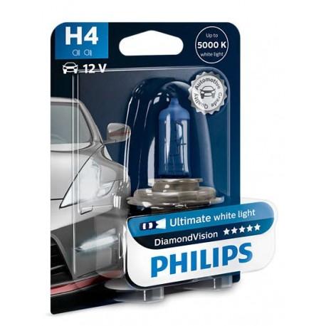ΛΑΜΠA PHILIPS H4 12V 60/55W DIAMOND VISION 5000K