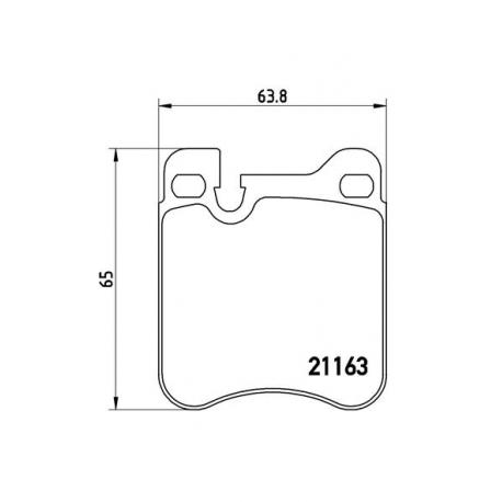 Σετ Τακάκια BREMBO P65010