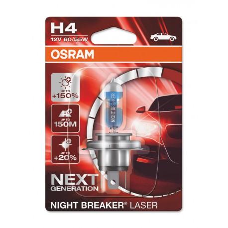 ΛΑΜΠΑ OSRAM H4 12V 60/55W NIGHT BREAKER LASER +150% ΠΕΡΙΣΣΟΤΕΡΟ ΦΩΣ