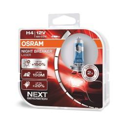 ΛΑΜΠΕΣ OSRAM H4 12V 60/55W NIGHT BREAKER LASER +150% ΠΕΡΙΣΣΟΤΕΡΟ ΦΩΣ
