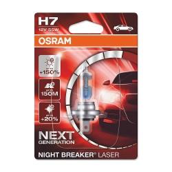 ΛΑΜΠΑ OSRAM H7 12V 55W NIGHT BREAKER LASER +150% ΠΕΡΙΣΣΟΤΕΡΟ ΦΩΣ