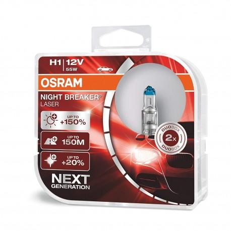ΛΑΜΠΕΣ OSRAM H1 12V 55W NIGHT BREAKER LASER