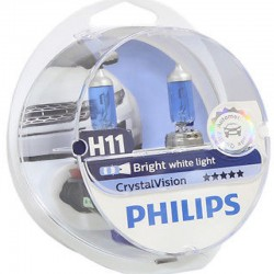 ΛΑΜΠΕΣ PHILIPS H11 12V 55W CRYSTAL VISION 4300K