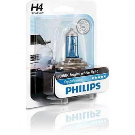 ΛΑΜΠΑ PHILIPS H4 12V 60/55W CRYSTAL VISION 4300K