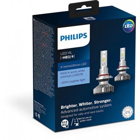 Λάμπες Philips HB3/HB4 X-Treme Ultinon Led 12V 25W +200% Περισσότερο Φως 6500K