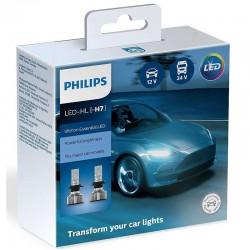 Λάμπες Philips H7 Ultinon Essential Led 12V 24V 20W 6500K 2τμχ 11972UE2X2
