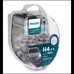 Λάμπες Philips H4 X-treme Vision Pro150 12V 60/55W Έως 150% Περισσ.Φως 12342XVPS2