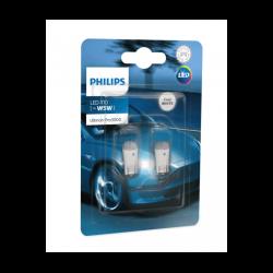 Λάμπες Philips T10 Ultinon Pro3000 Led 6000K 12V 0.6W 2τμχ 11961U30CWB2