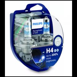 Λάμπες Philips Η4 Racing Vision GT200 12V 60/55W Έως 200% Περισσ.Φως 12342RGTS2